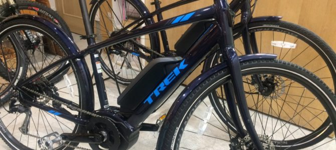 電動アシストクロスバイク、TREK(トレック)VERVE+(バーブ+)入荷です!試乗車もあります!