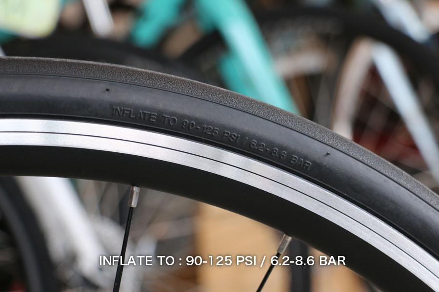 ロードバイクの空気圧